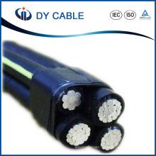 Câble aérien isolé par câble XLPE isolé duplex / triplex / quadruplex
