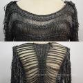 Women Fashion Mesh Long Sleeve Sweater