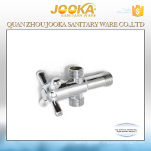 Wholesale chrome plated 3-way angle valve with cross handle