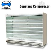 Вертикальные открытые многоярусные холодильные установки для супермаркетов