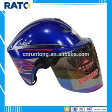 Profesional fabricante azul media cara casco motocicleta