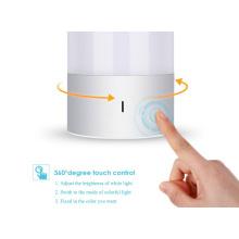 Lâmpada de mesa com sensor de toque branco / multicolorido Dimmable