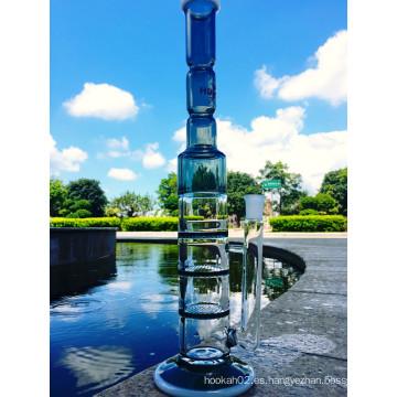 Venta al por mayor caliente simple Honeycomb 3 capas de Percolator Water Glass Pipe