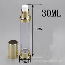 30ml Golden Airless Packaging Bottle for Cosmetic Lotion Cream