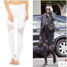 Venta caliente de fitness transpirable ropa de señora desgaste de las mujeres moda pantalla paño yoga pantalones leggings