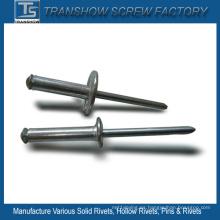 Acero de remache ciego tipo abierto de 3.2 * 12 mm