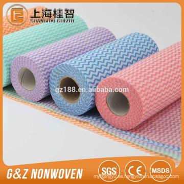 tela no tejida perforada del mulit-funcional de la tela no tejida del rollo limpia el superventas