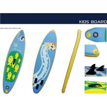 Novo estilo pequeno surf boarf com padrão de peixe para as crianças brincarem na água