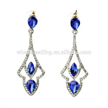 hollow out blue diamond vogue jewelry big top earrings