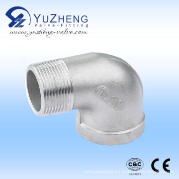 Colocación de tubo de codo Mf de acero inoxidable