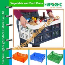party crate/school storage plastic box/light duty basket crate