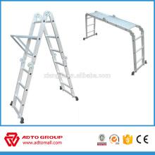 Escalera de aluminio multiuso EN131, escalera de múltiples tareas, escalera multifunción