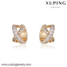 94762 nouvel été en gros design créatif plaqué or bijoux diamant cerceau boucle d'oreille
