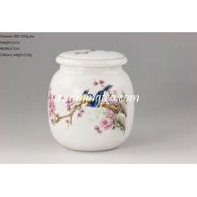 Cadinho redondo / vasilha de chá de porcelana Magpie