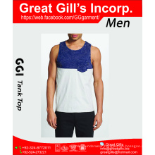 High quality 100% cotton dry fit tank top gym for men