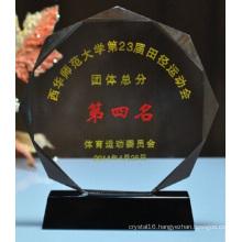 Custom Crystal Octagonal Trophy for Achievement Awards