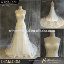 Алибаба платья сексуальный Поставщик свадебное платье с открытой пояснице