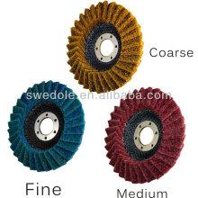 SATC--non-woven Flexible Flap disc manufacturers (sand cloth mixed with non-woven cloth)