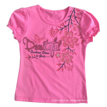 La camiseta linda de los niños lindos de la flor en ropa del desgaste de los niños Sgt-086