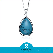 Оптовая бирюза Камень Серебряное ожерелье (SH-N0184)