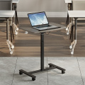 Gas Lifting Movable Swivel Office Table with Wheels