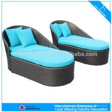 mobilier d'extérieur rotin chaise longue en plastique CF1207C + CT