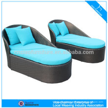 outdoor furniture rattan plastic sun lounger CF1207C+CT