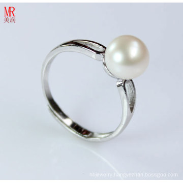 925 Solid Silver Wedding Nature Pearl Ring (ER1603)