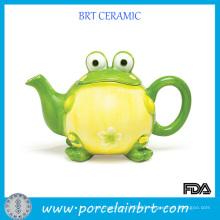Frog Design Porcelain Ceramic Teapot