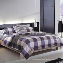 Plaid Printed Bedlinen 100% Cotton Bedding Set for Home/Hotel Design