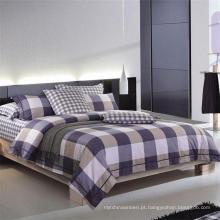 Plaid impresso Bedlinen 100% algodão conjunto de cama para casa / Hotel Design
