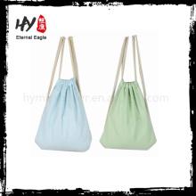Novo design têxtil lona mochila sacola de compras