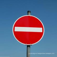 Placa de advertencia / señal de advertencia de tráfico Señal de stop Tarjeta de seguridad circular