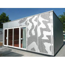 Decorative perforated sheet metal panels