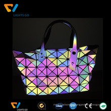 China gongguan alibaba reflective 7 rainbow color reflections handbags