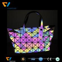 Китай особняк алибаба светоотражающий 7 цвета радуги размышления сумки