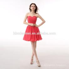 China OEM neuesten Design Frauen Mini Chiffon Kleid Damen Wassermelone rotes Kleid Abendkleid
