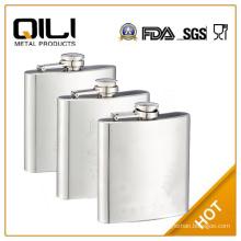 promotional matt finished 6oz stainless steel plain hip flask