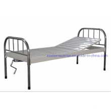 Medical Supplies Stainless Steel Two Functions Manual Bed Hospital Bed