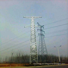 220kV Spannung Single Circuit Stahl Power Transmission Tower