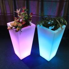 Наружное украшение сада освещает светодиодные цветочные горшки