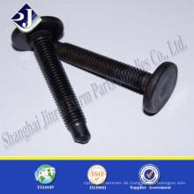 Hersteller aus China hochfester C-Stahl schwarzer Vollrad-Nabenschraube