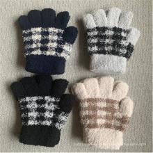 Mitaines Spandex hiver tricoté gants chauds à carreaux