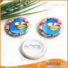 Crachás de botões impressos em forma de botão personalizado para promoção BM1115