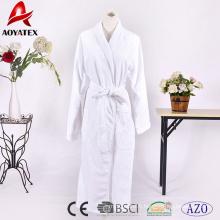 Peignoir en coton éponge blanc de haute qualité en bambou double couche