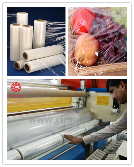 PE stretch wrapping film machine