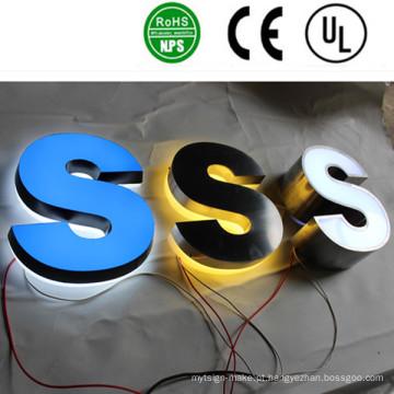 Alta Qualidade LED Voltar Iluminado Light Channel Carta Sinais