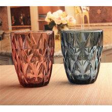 Copos de vidro coloridos com logotipos Customizd Canecas de vidro bebendo para a água do suco