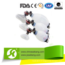 Ressuscitants manuels en silicone à chaud (SKB-5C001)