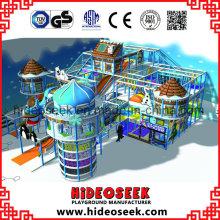 Замороженные снежные темы Naughty Castle Kids Крытое оборудование для игровых площадок